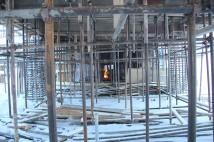 Строительные работы в цехе плавки 2