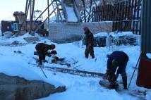 Строительные работы вентиляционного ствола исходящей струи в урочище Талды-Булак